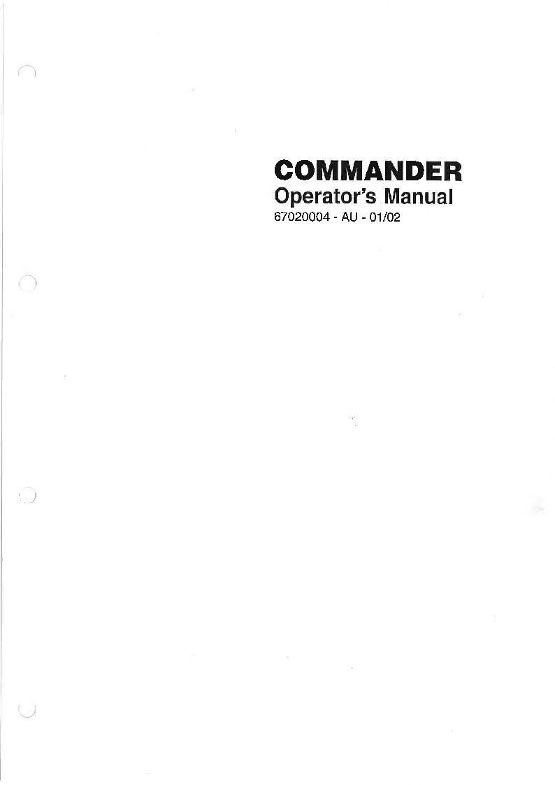 COMMANDER 2001